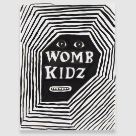 Womb Kidz 1 2014 ink on paper 12x9 in.